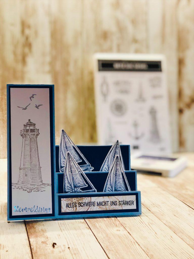 Step Fold Card mit dem Stempelsetz Setz die Segel